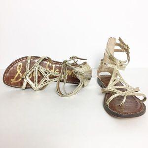 Sam Edelman Goldie Gladiator Sandals. Size 8